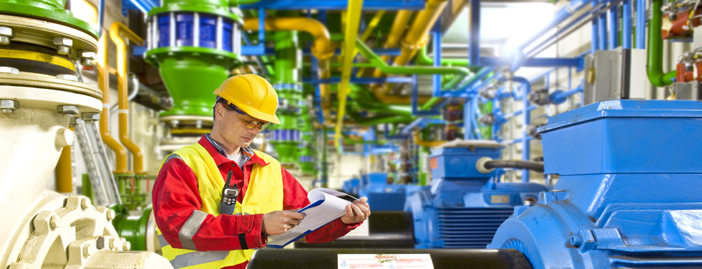 Worker in production facility